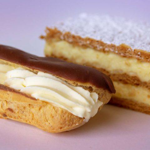 Vanilla Sliceand Eclairs