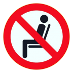 No Seating Icon 2